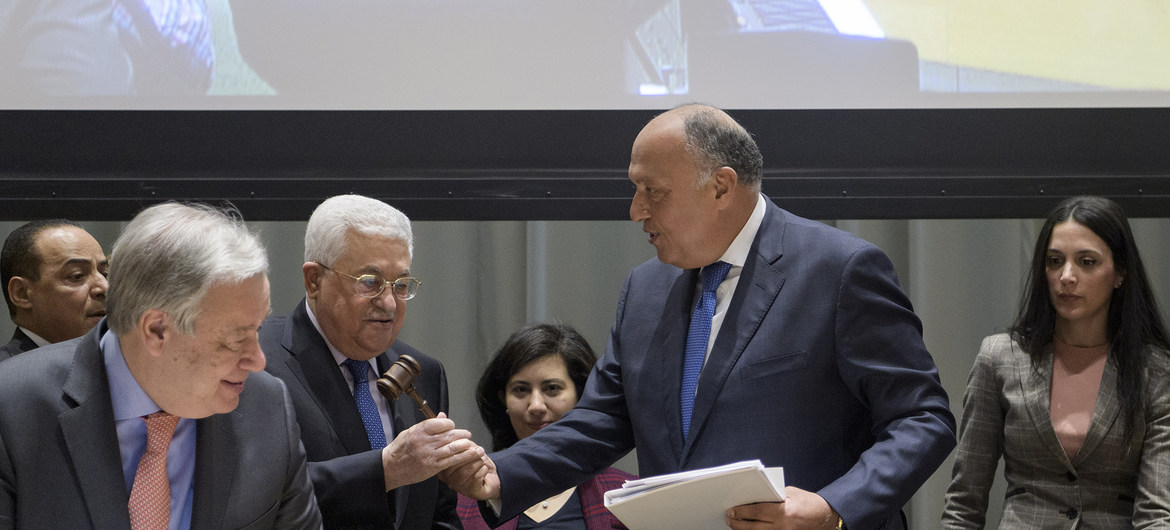 UN Photo/Manuel Elias - Handover Ceremony of the Chairmanship of the Group of 77, from the Arab Republic of Egypt to the State of Palestine