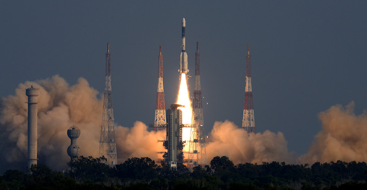 Photo: ISRO's Geosynchronous Satellite Launch Vehicle (GSLV-F11) successfully launched the communication satellite GSAT-7A on December 19, 2018. Credit: ISRO